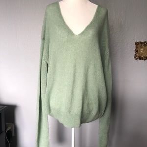 Free People Alpaca Wool V-Neck Sweater Size Small